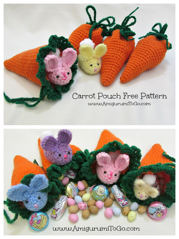 Easter Carrot Pouch Free Crochet Patterns