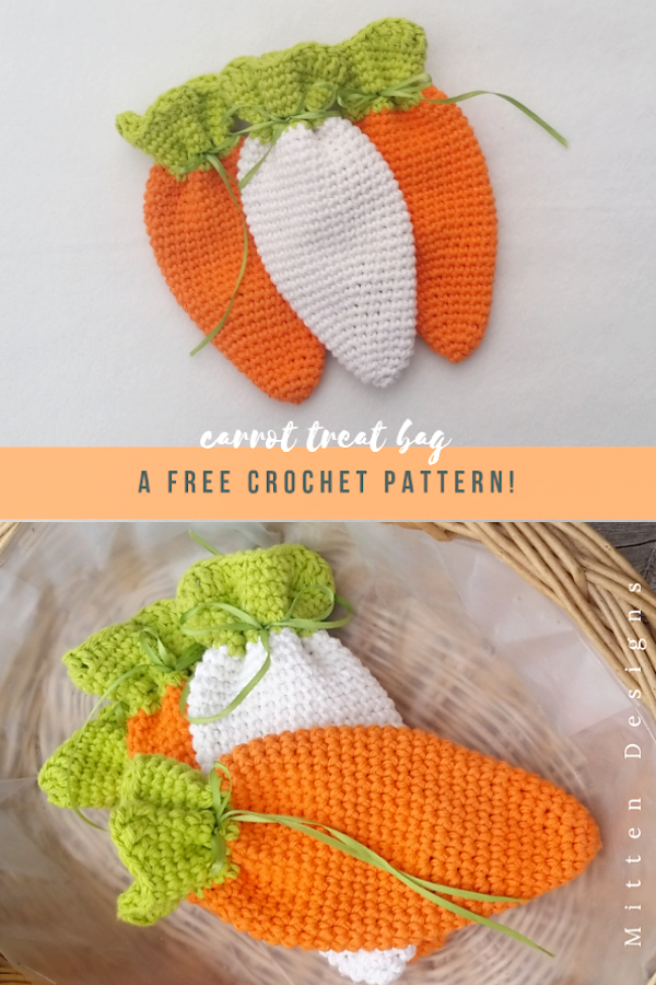 Easter Carrot Treat Bag Free Crochet Patterns