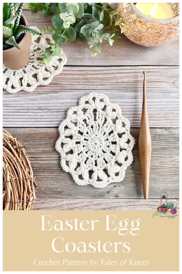 Easter Egg Coasters Crochet Patterns