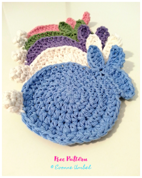 Easter Bunny Coasters Free Crochet Patterns