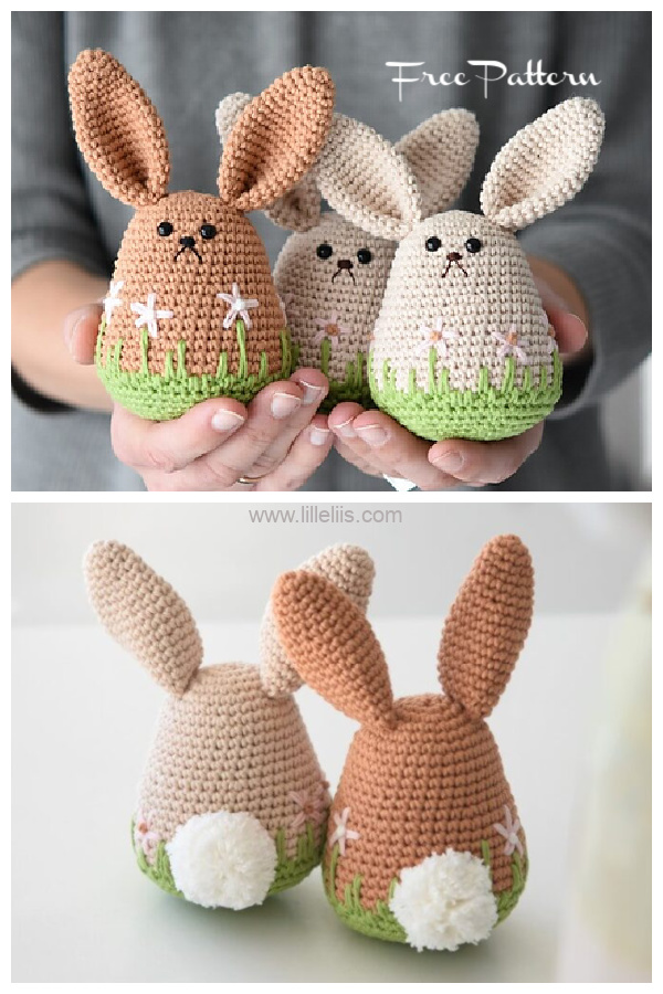 Amigurumi spring bunny Free Crochet Patterns