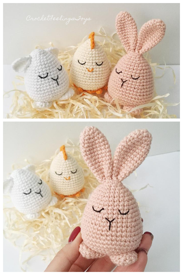 Easter Egg Bunny  Crochet Patterns