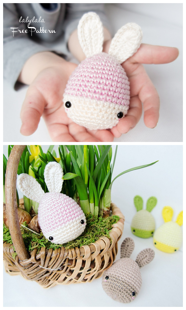 Easter Bunny Eggs Free Crochet Patterns