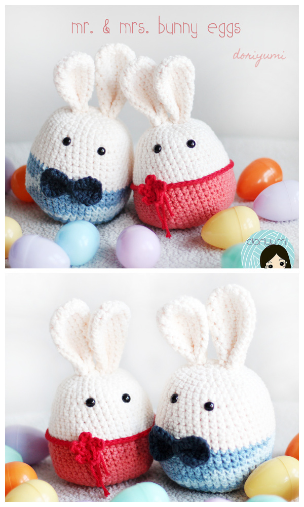 Mr. & Mrs. Bunny Eggs Crochet Patterns