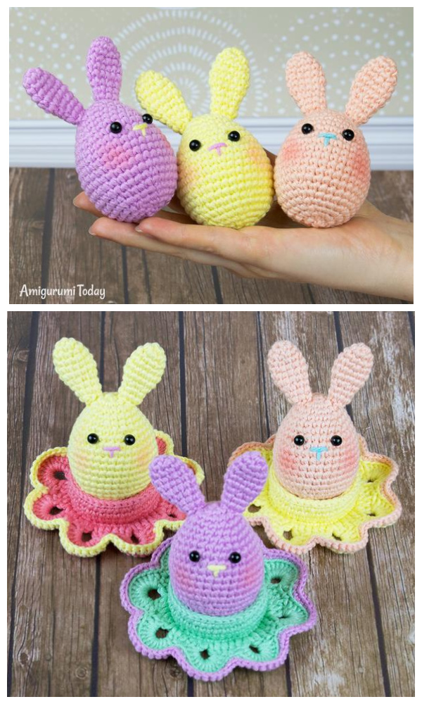 Easter Bunny Egg Free Crochet Patterns