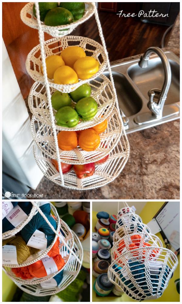 Hanging Baskets Free Crochet Patterns