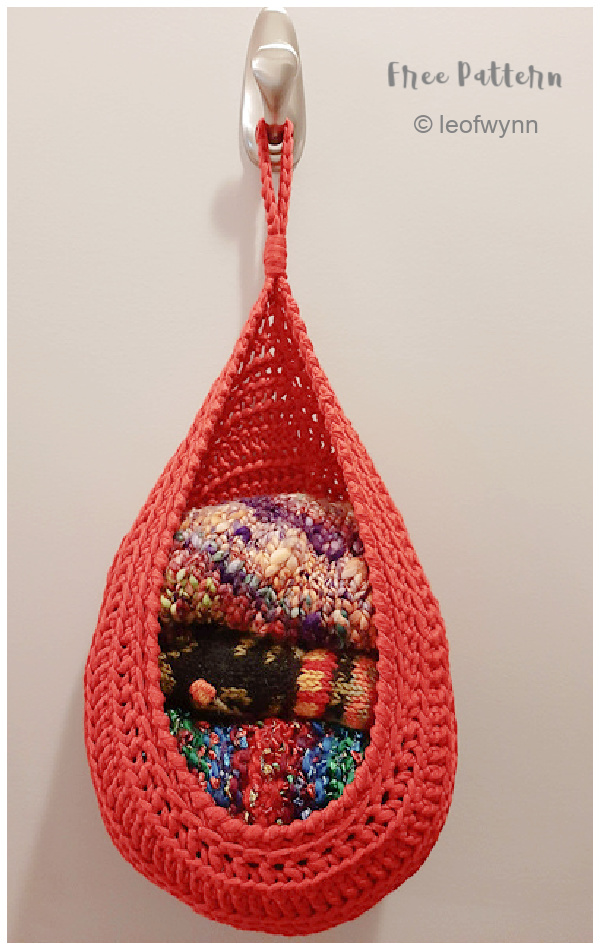 Large Hanging Baskets Free Crochet Patterns