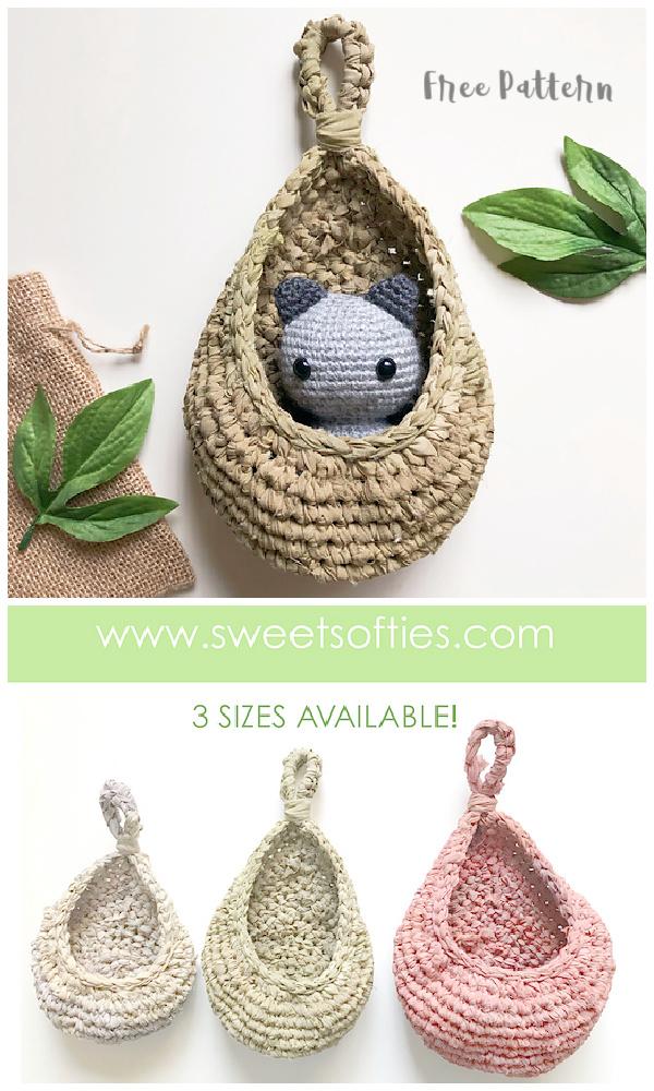 Teardrop Hanging Baskets Free Crochet Patterns