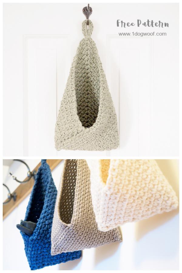 Hanging Bramble Basket Free Crochet Patterns