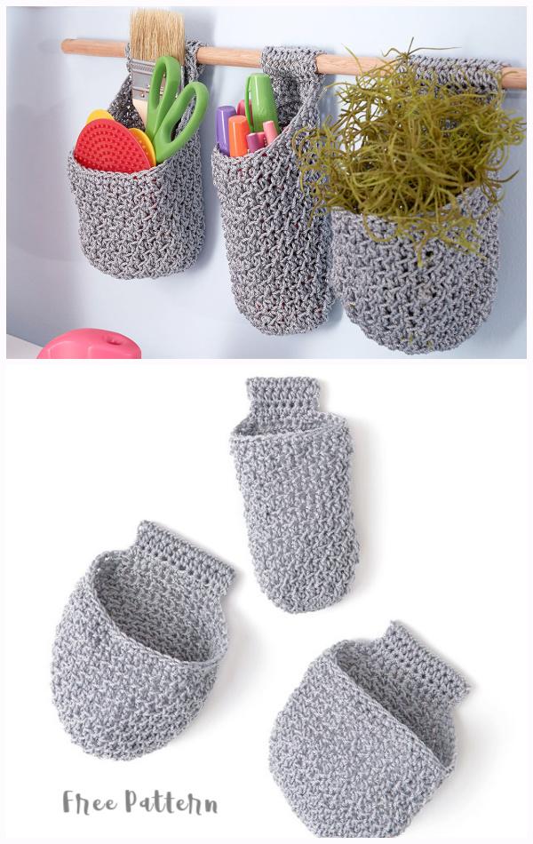 Hanging Baskets on Dowel Free Crochet Patterns