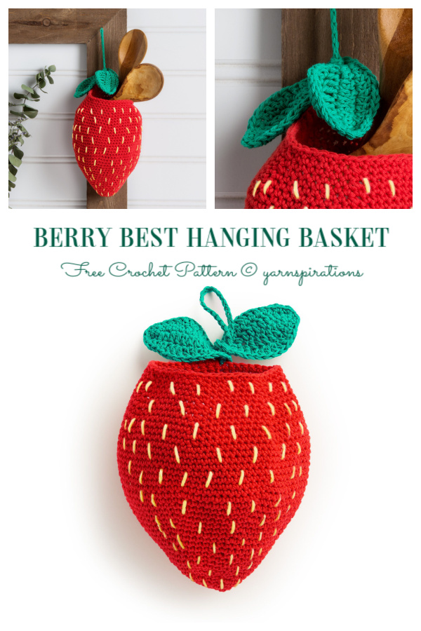 Berry Best Hanging Basket Free Crochet Pattern