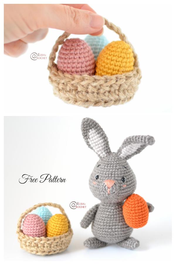 Mini Paskalya Yumurtası Sepeti Ücretsiz Tığ Desenleri
