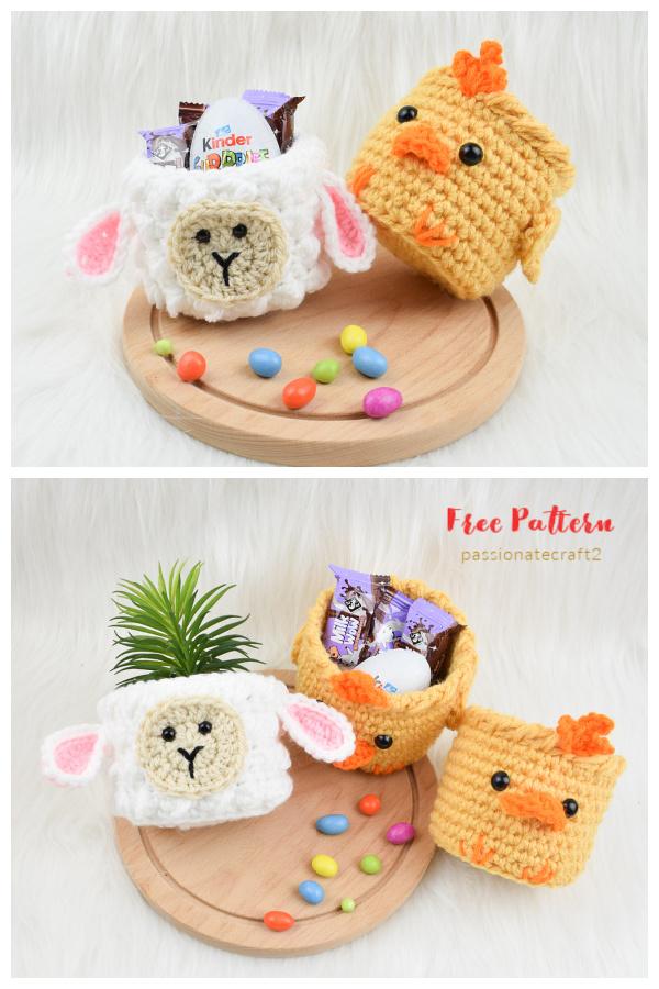 Mini Paskalya Sepetleri Serbest Tığ Desenleri