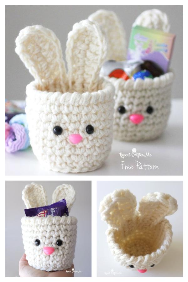 Mini Bunny Cups Ücretsiz Tığ Desenleri