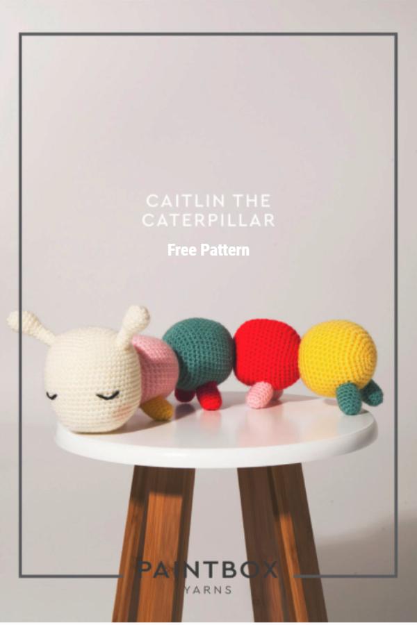 Crochet Caitlin the Caterpillar Amigurumi Free Patterns