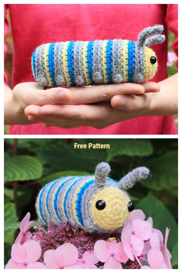 Crochet Chip the Caterpillar Amigurumi Free Patterns