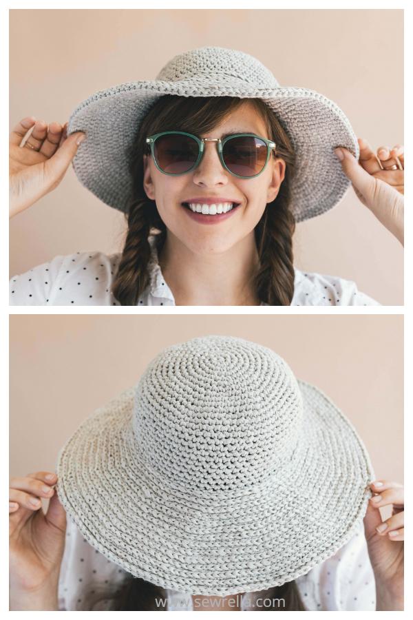Easy June Sun Hat Free Crochet Patterns