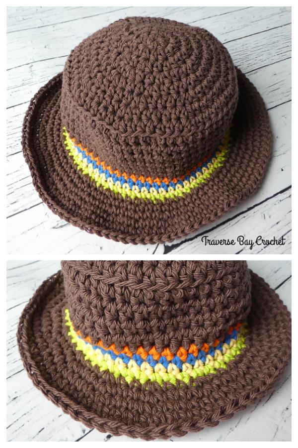 Easy Little Man Sunhat Free Crochet Patterns