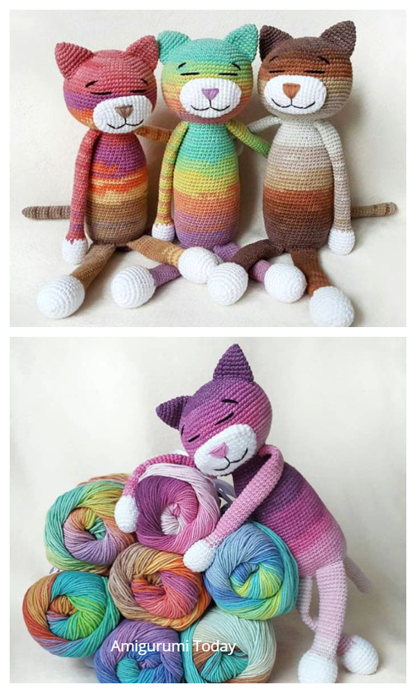 Easy Crochet Large Ami Cat Free Patterns