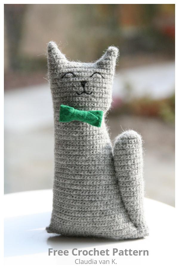Easy Crochet Mr Tibbles the Cat Amigurumi Free Patterns