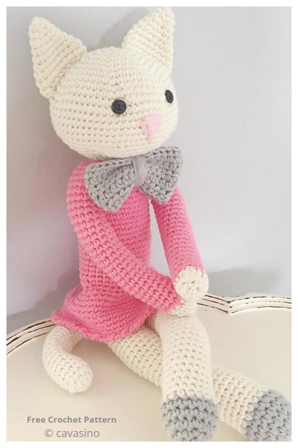 Easy Crochet Pretty Kitty Amigurumi Free Patterns