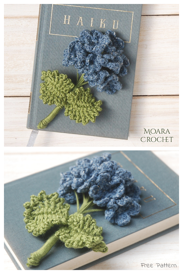 Hydrangea Flower Free Crochet Patterns
