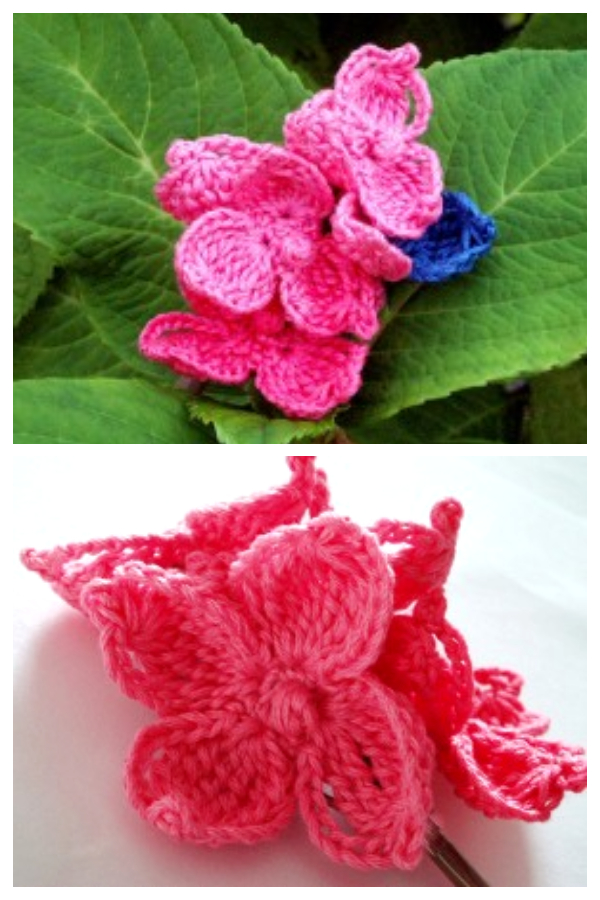 Better Hydrangea Flower Free Crochet Patterns