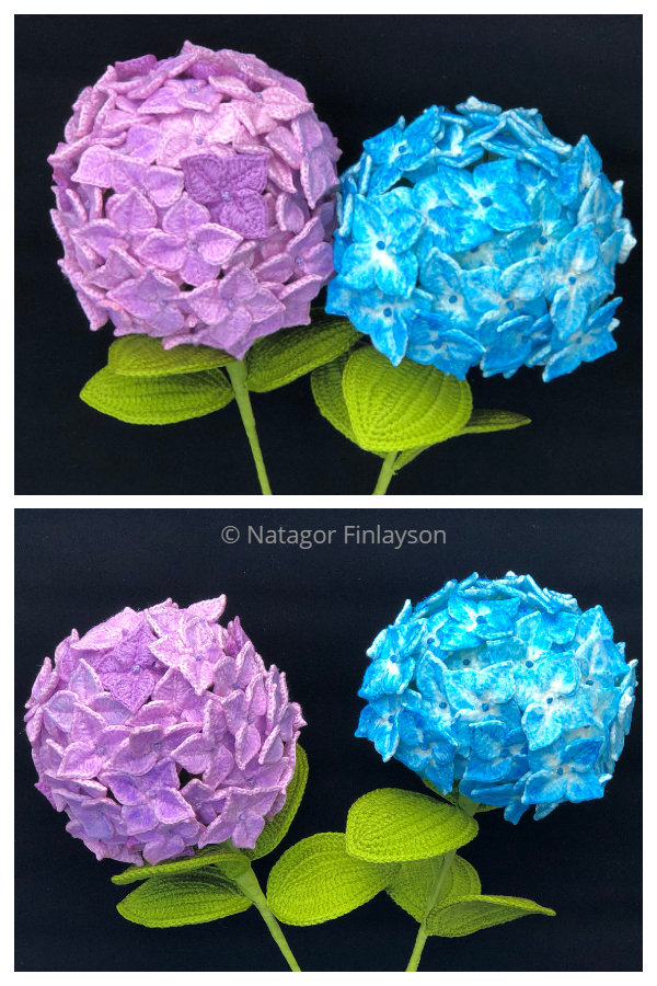 Hydrangea Flower Bouquet Free Crochet Patterns Video