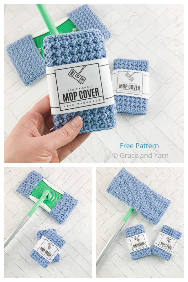 Easy Mop Cover Free Crochet Patterns