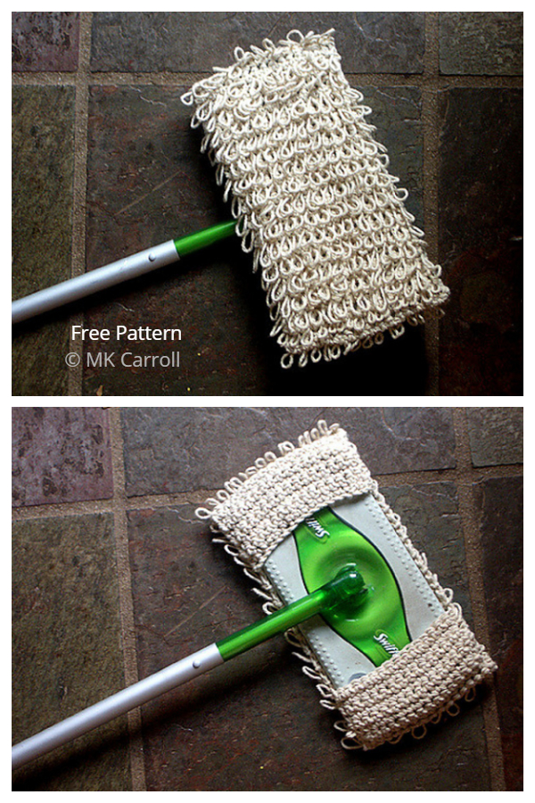 Loopy Dust Mop Sweeper Sleeve Free Crochet Patterns