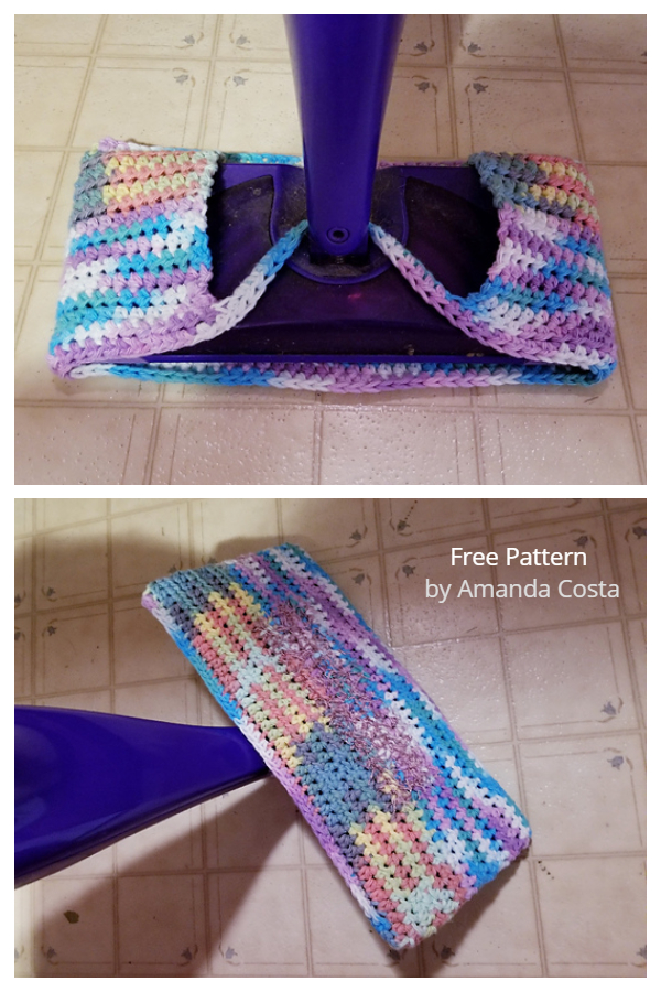 Wet Jet Mop Cover Free Crochet Patterns