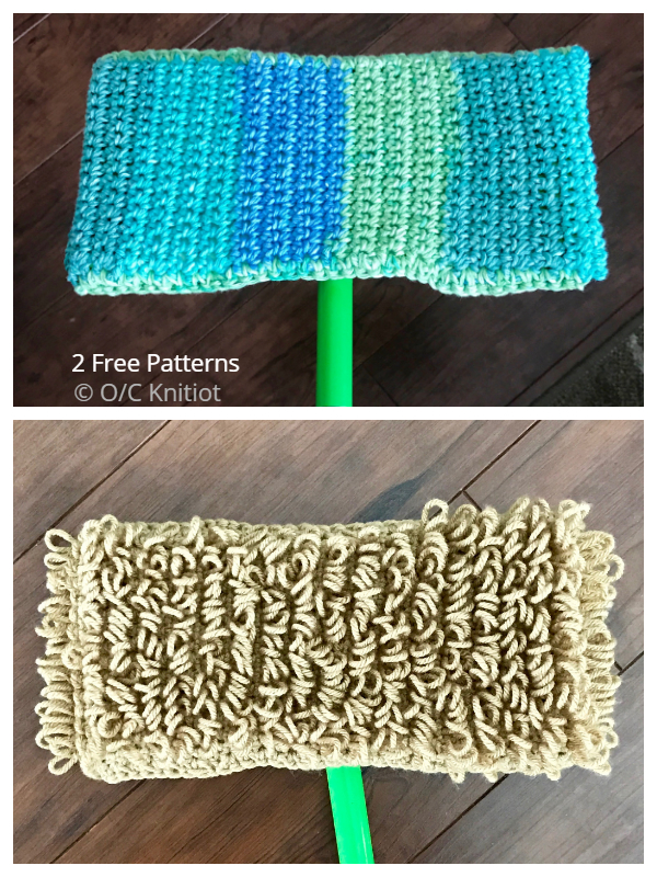 Reusable Wet & Dry Mop Covers Free Crochet Patterns