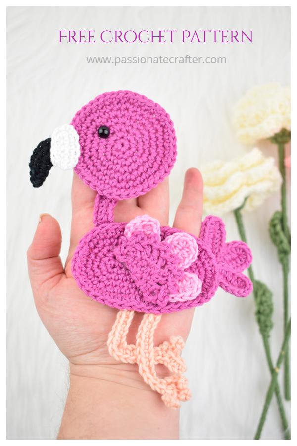 Sweet Flamingo Applique Crochet Patterns