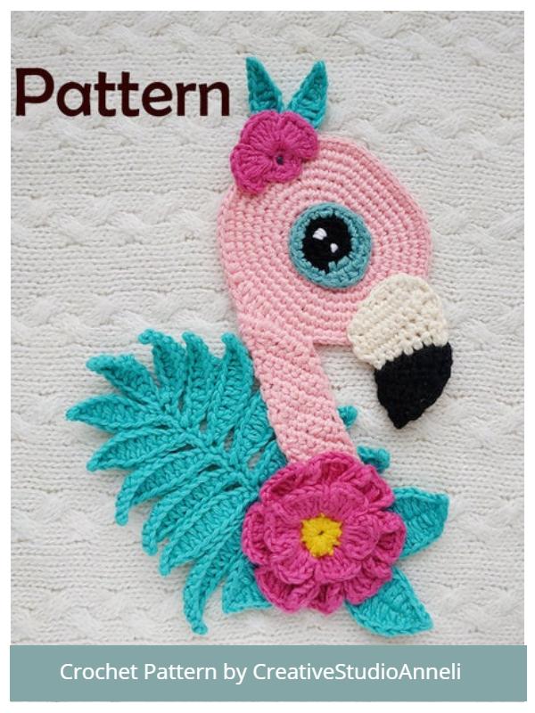 Flamingo Applique Crochet Patterns