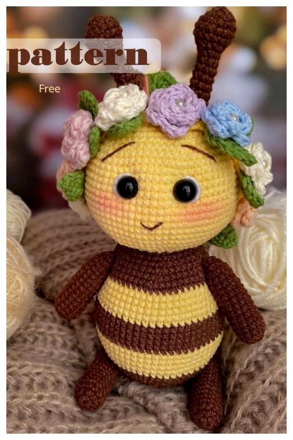 Amigurumi Flora the Bee Free Crochet Patterns