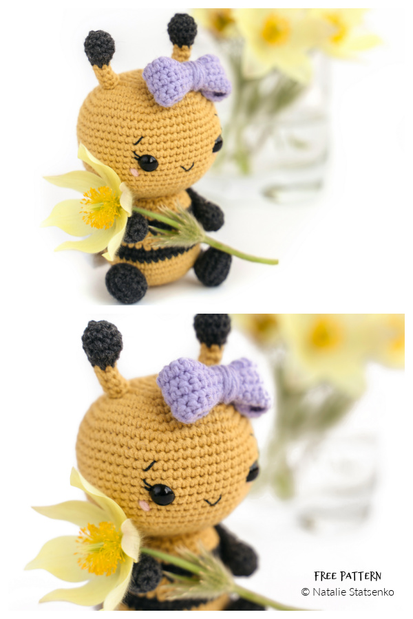 Amigurumi Tiktok Bumblebee Free Crochet Patterns