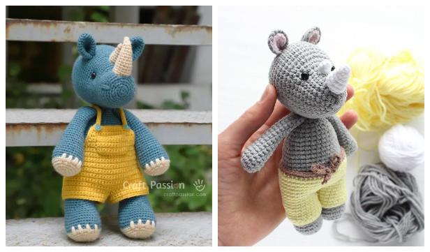 Amigurumi Rhino Free Crochet Patterns