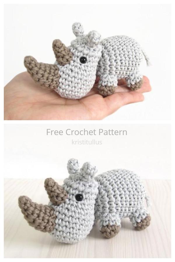 Amigurumi Small Rhino Free Crochet Patterns