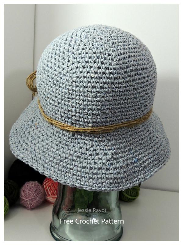 Simple Denim Bucket Hat Free Crochet Patterns