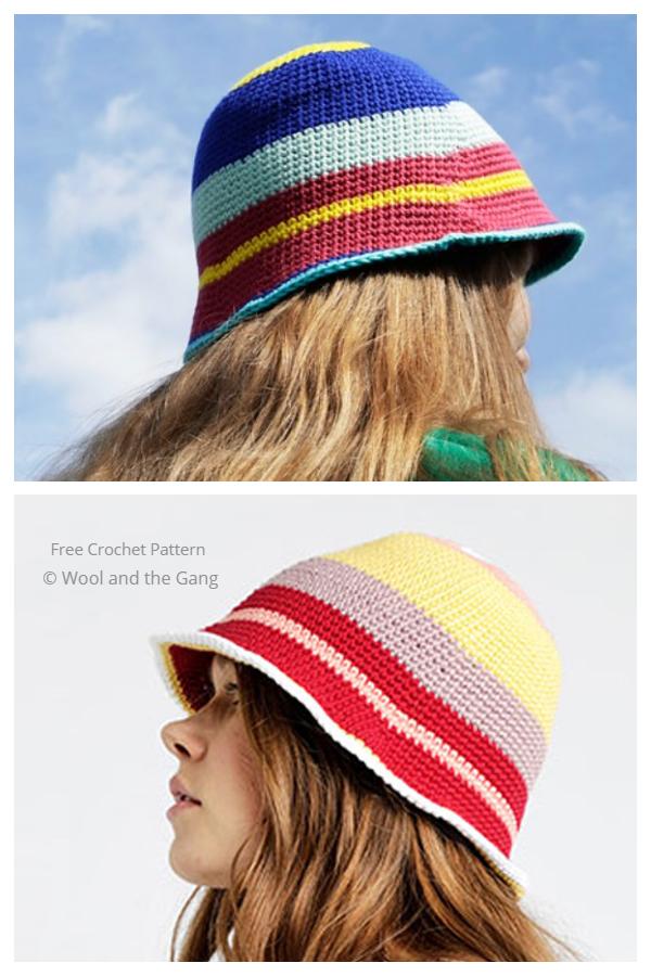Simple Marley Bucket Hat Free Crochet Patterns