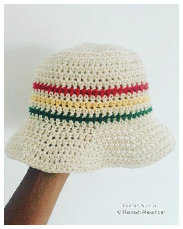 Babylon Bucket Hat Free Crochet Patterns