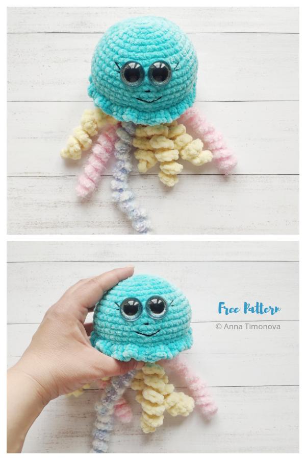 Crochet Plush Jellyfish Amigurumi Free Patterns
