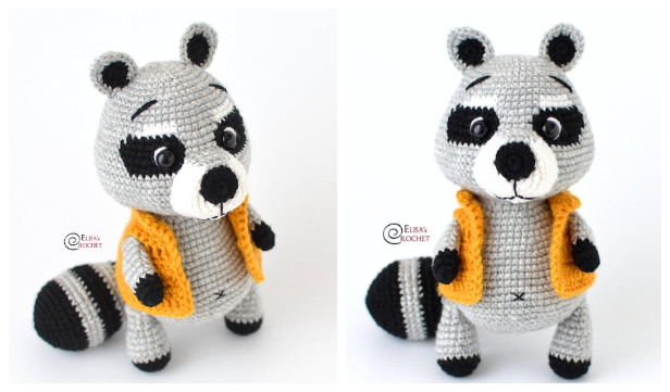Crochet Raccoon Amigurumi Free Patterns