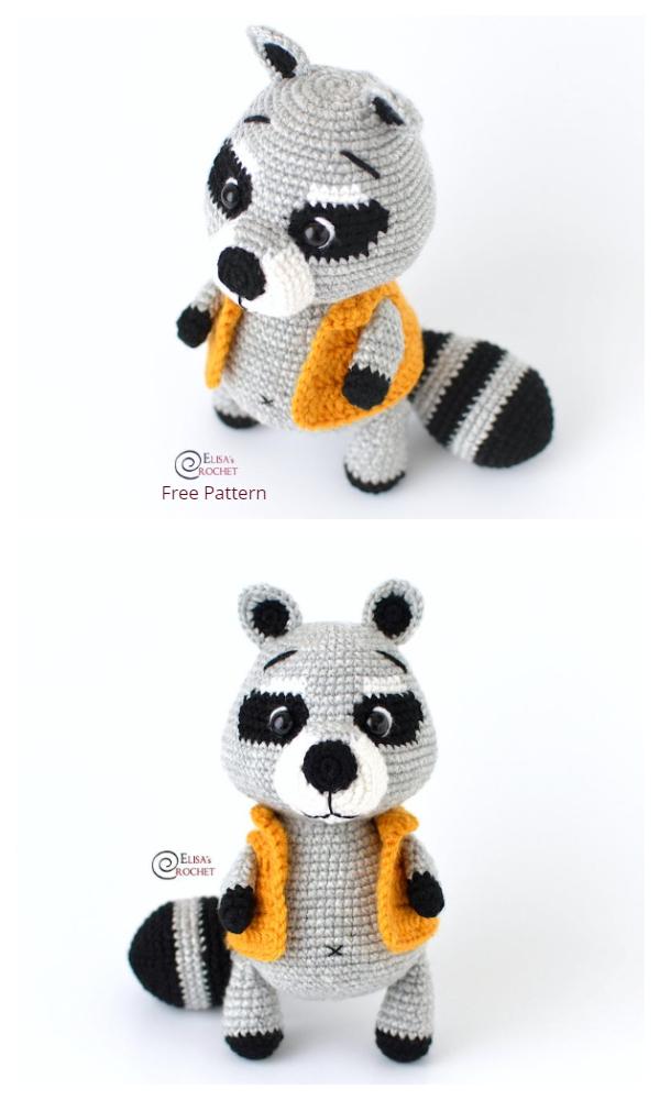 Crochet GIGI the Raccoon Amigurumi Free Patterns