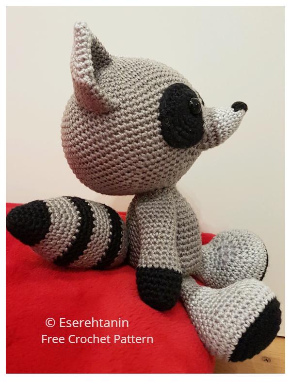 Crochet The Silent Raccoon Amigurumi Free Patterns