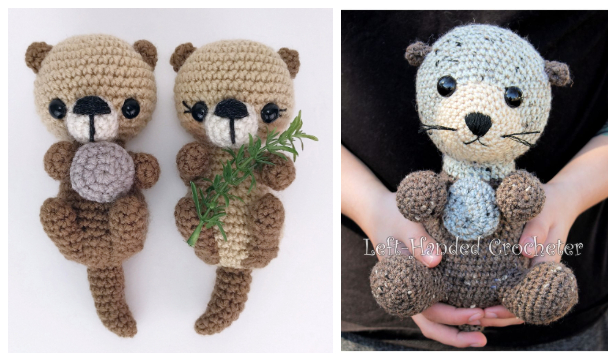 Crochet Sea Otters Amigurumi Free Patterns