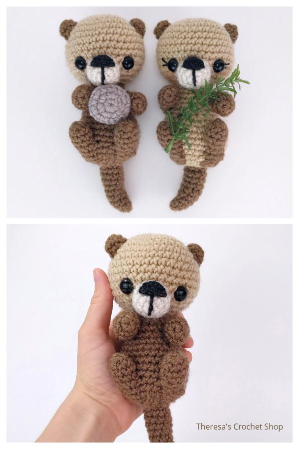 Crochet Sea Otters Amigurumi Patterns