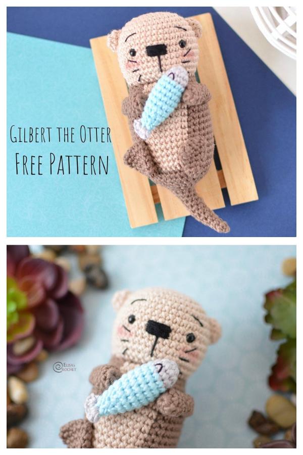 CrochetGILBERT the Otter Amigurumi Free Patterns