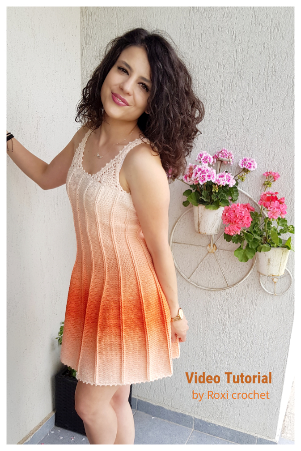 Gorgeous Lady Summer Dress Free Crochet Pattern+ Video
