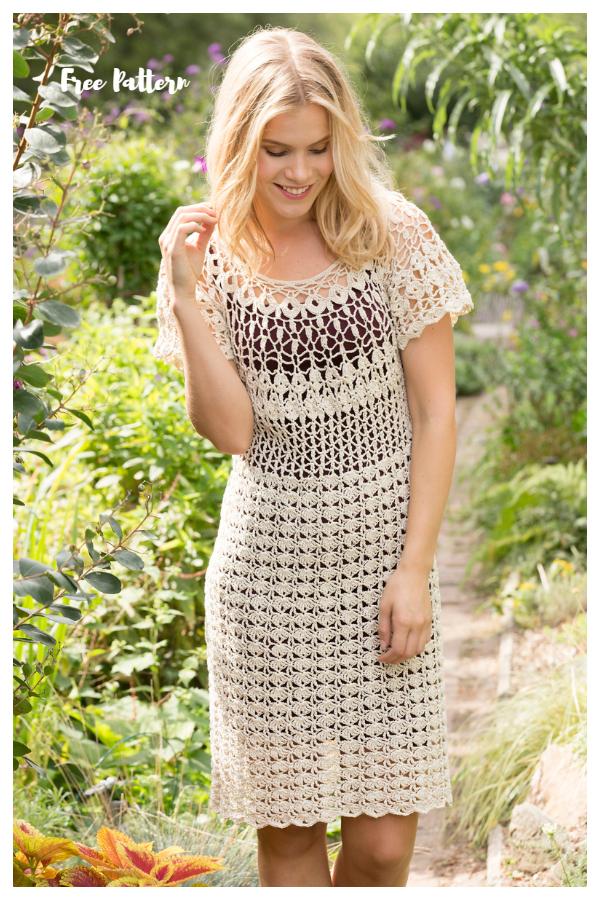 Natural Beauty Summer Dress Free Crochet Patterns